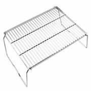 Large Rectangle Bbq Grill Rack Rust-proof Clean Easily Multi-functional Useful F