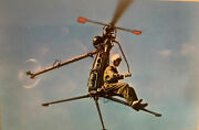 Military Postcard - The Us Navy Hiller One-man Helicopter Antique