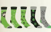 Xbox Menand039s Casual Crew Sock 5 Pair Fits Shoe Size 8-12 Gears Of War Oem