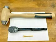 Snap-on Tools Usa New 1/2 Drv If Ratchet And 40oz Combat Tan Hammer Hbbd40 Gs80a