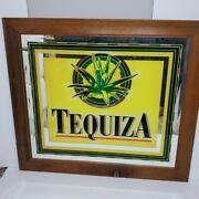 Tequiza Beer Wood Framed Bar Mirror By Anheuser-busch 31 L X 27 Man Cave Bar
