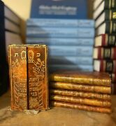Rare Antique Leather Bound The Five Books Of Moses Hebrew And English Translated