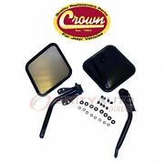 Crown Automotive Left And Right Door Mirror Kit For 1966-1968 Jeep Cj5a - Zw