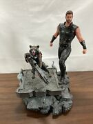 Marvel Premiere Avengers 3 Thor And Rocket Raccoon Statue Nice Quality Numbered