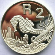 South Africa 1997 Seahorse 2 Rand 1oz Silver Coinproof