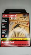 New Vintage Craftsman Speed Lok 50-pc Master Drill And Drive Set 26331 Usa Made