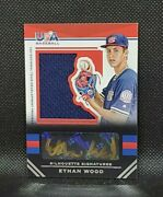 2017 Usa Baseball Stars And Stripes Ethan Wood Silhouette Relic Autograph /38