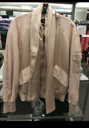 Tom Ford Nwt 3850.00 Pink Satin With Scarf Biker Flight Bomber Jacket 44 Us 8