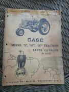 1948 J.i Case S Sc So Tractor Parts Catalog Manual Book D213 Covers Other Years