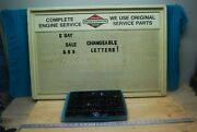 Vintage Briggs And Stratton Engine Service Parts Sign Gas / Oil Mechanics Sign