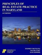 Principles Of Real Estate Practice In Maryland 1st Edition By Mettling, Step…