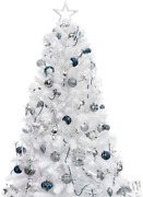 Busybee 7ft Artificial Christmas Tree With 360 Leds Lights And 135pcs Ornaments