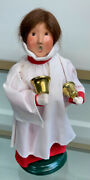 Byers Choice Ltd Signed Old Friends Carolers 1999 Woman Girl Choir Bells Ringing