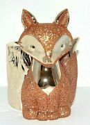 Bath And Body Works Gold Fox Glitter Accents Tree Stump Gentle Foaming Soap Holder