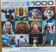 Eurographics 1000 Piece Puzzle Funny Animals Bunny Bear Chick Horse Pig Glasses