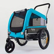 Sports Pet Bike Trailer And Stroller For Small,medium Or Large Dogs, Bicycle Trail