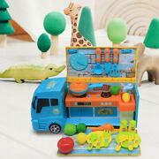 1 Set Fast Food Truck Toy Kid Children Kitchen Pretend Play Cook Educational Toy