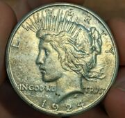 1924-s Peace Silver Dollar 1 Coin - Unc Uncirculated Details - Rare Key Date