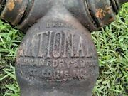 Antique Fire Hydrant National American Fdry And Mfg Co Dec 11 1881 St. Louis Moandnbsp