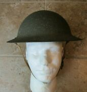 Wwi U.s. Army M1917a1 Combat Helmet W Chinstrap And Liner