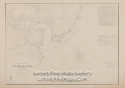 1854 Vintage Nautical Chart Portsmouth Harbor New Hampshire, Uscs Thick Paper