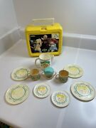 Cabbage Patch Kids Vintage Lot Lunchbox And Kids Tea Set Items