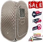 Portable Sauna Tent Foldable One Person Full Body Spa Weight Loss Detox Therapy