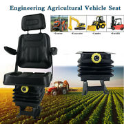 Universal Lawn Mower Seat Suspension Seat For Tractor Forklift Loader Dozer Us