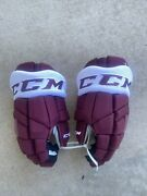 Nathan Mackinnon Reverse Retro Colorado Avalanche New Game Issued Ccm Gloves