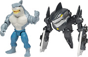 4-inch King Shark Mega Gear Deluxe Action Figure With Transforming Armor