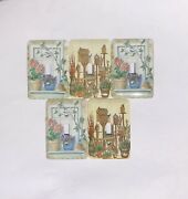 •euc• Vintage Tin •farmhouse Light Switch Plate Covers• Lot Of 5 •single Switch•
