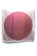 Hermes Silk Striped-dot Pois Optique Giant Scarf Pink Red 140cm