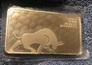 10 Ounce Oz Silver Bar Sealed Gold Bull .999 Fine Investment Premium Quality
