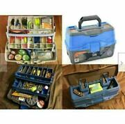 Fishing Tackle Box Full With Lures Lines Hooks Bait Fish Case Accessories Tool