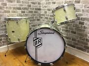 Vintage 1960and039s Slingerland Gene Krupa Deluxe Outfit Drum Shell Pack Marine Pearl