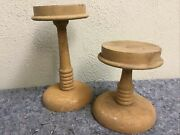 Matching Set Of Vintage Hat Stands-6 Inch-9 Inch-weighted Base