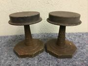 Pair Of Vintage 6 Inch Hat Stands-wood