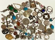 Lot Of 146 Grams 925 Sterling Silver Charm Pendant Bead Wearable Part Scrap Sv5