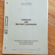 1953 Staff Dept. Us Army Infantry School Command And Military Leadership Named