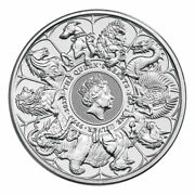 2021 Great Britain 2 Oz Silver Queen's Beasts Completer £5 Coin Gem Bu Presale
