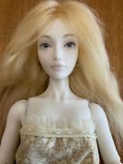 16 Porcelain Ball Jointed Doll W Strawberry Blonde Hair + Dress