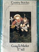 Vintage Craft Pattern - Country Stitches - Going To Market - 11andrdquo Dolls - 1987
