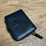 Yohji Yamamoto Leather Bi-folded Shape Wallet Black Color Mens New With Defects