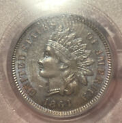 1864 L On Ribbon Indian Head Cent Pcgs Ms64bn