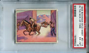 1949 Bowman Wild West D-14 In The Nick Of Time Psa 6 Ex-mt