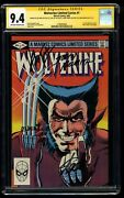 Wolverine 1 Cgc Nm 9.4 Ss X4 Stan Lee +3 More Limited Series Frank Miller