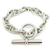 Hermes Chaine Dand039ancre Gm Silver 925 Charm Bracelet Silver Accessories 82988