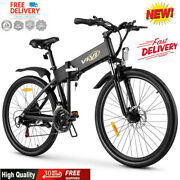 20/26and039and039 Folding Mountain Bike 6/21 Speed Electric Bicycle Ebike City 20mph Adult