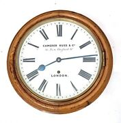 Antique Oak Wall Clock Camerer Kuss And Co 56 New Oxford St. London