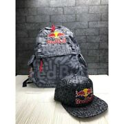 Fns Red Bull Athlete Only Backpack And Cap Set Rare Disabled Young Man Di Pin New